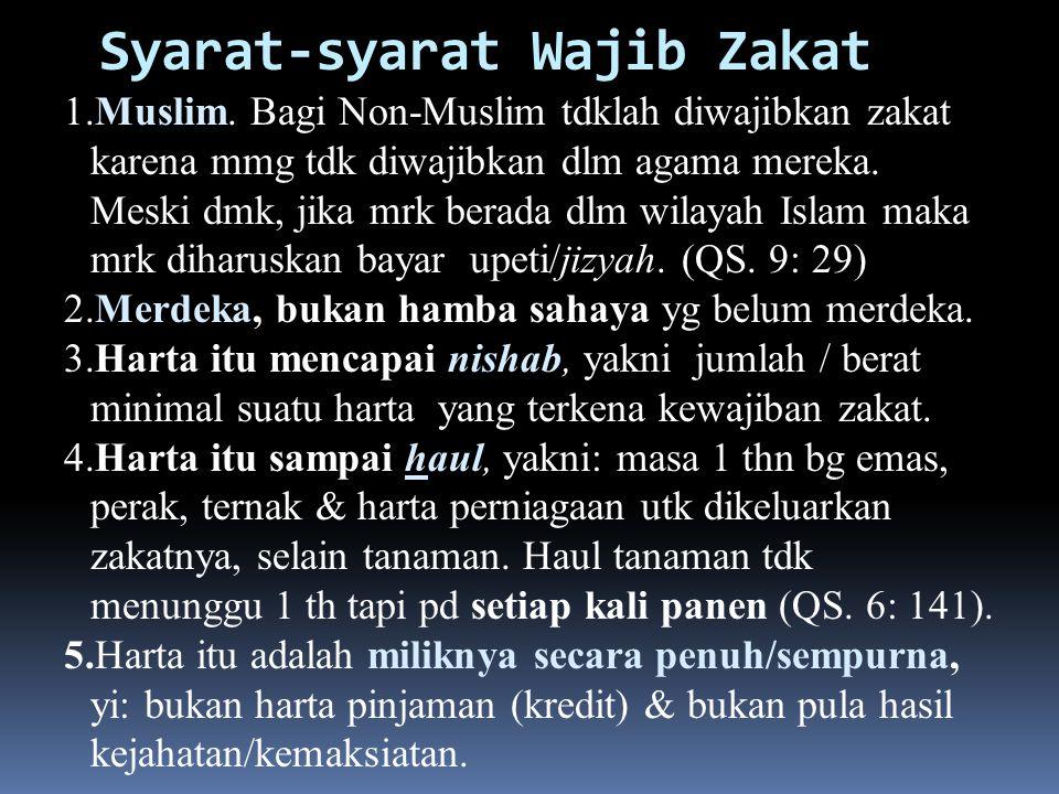 Syarat-syarat Wajib Zakat