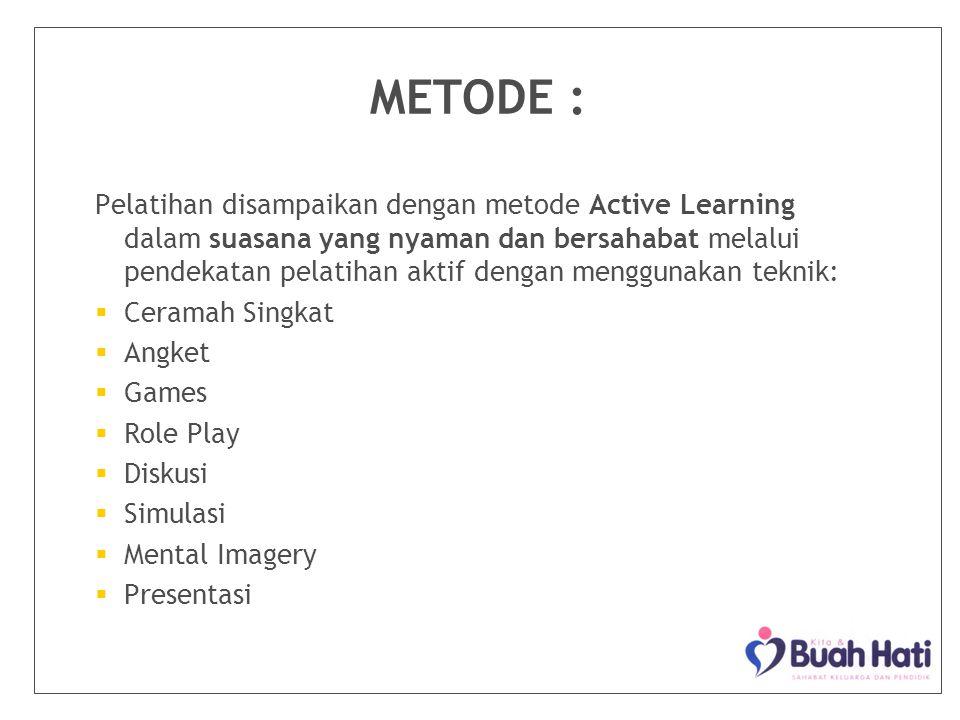 METODE :