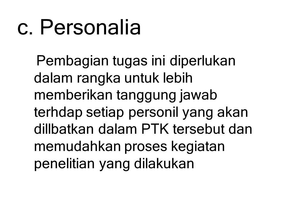 c. Personalia