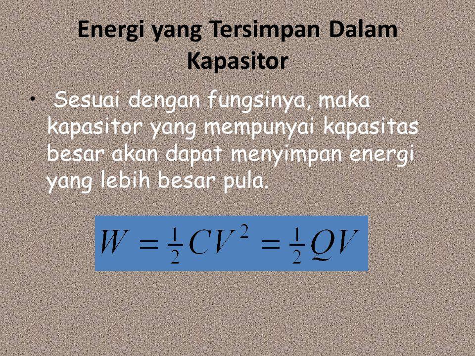Energi yang Tersimpan Dalam Kapasitor