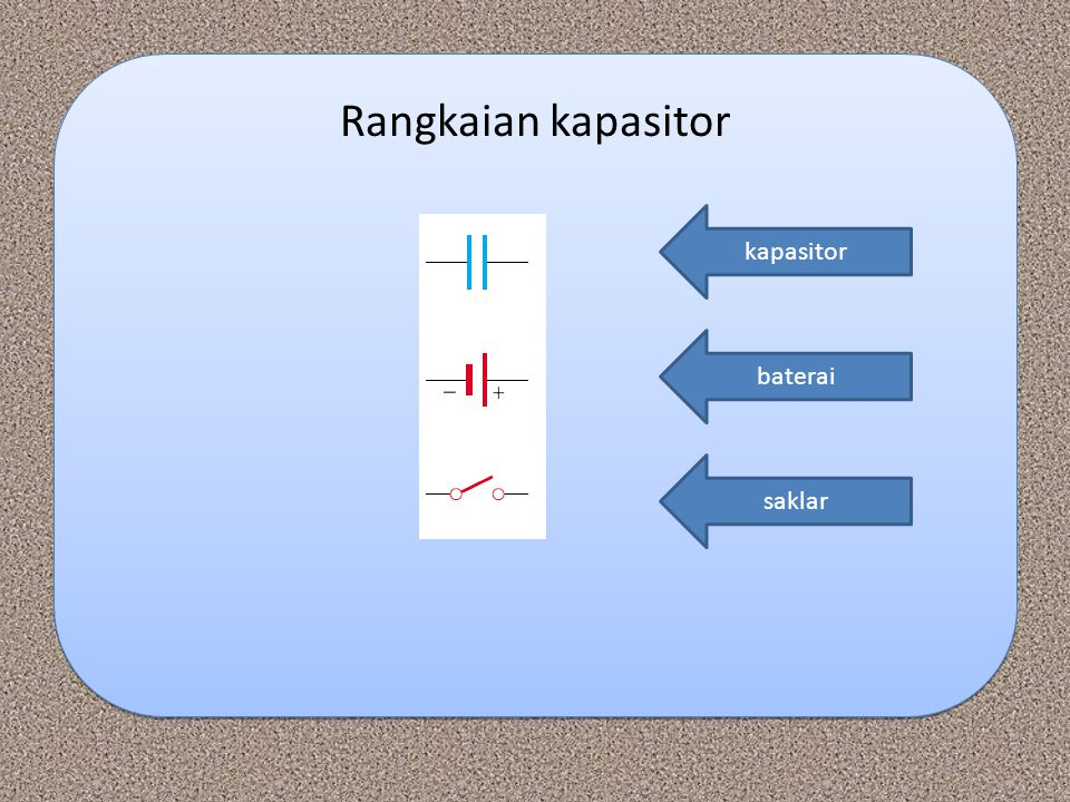 Rangkaian kapasitor kapasitor baterai saklar