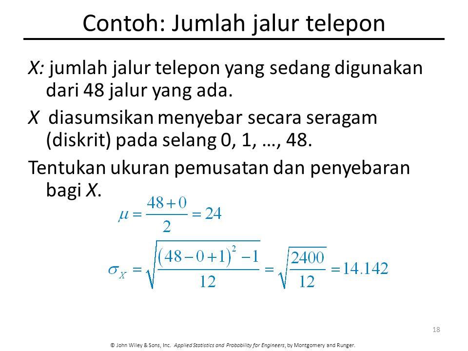 Contoh: Jumlah jalur telepon