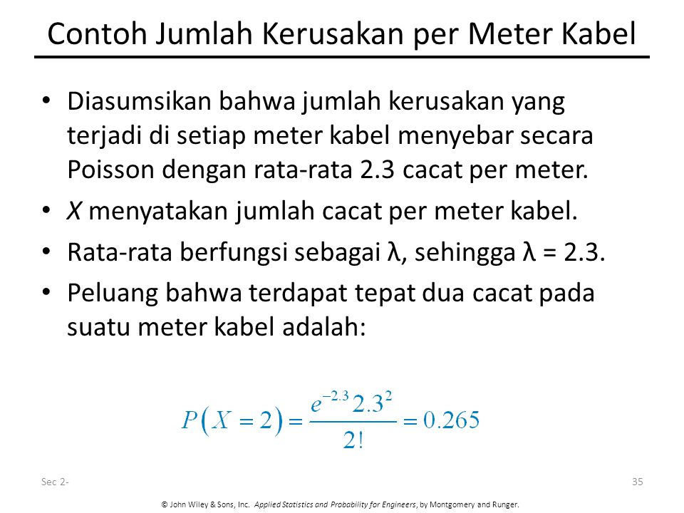 Contoh Jumlah Kerusakan per Meter Kabel