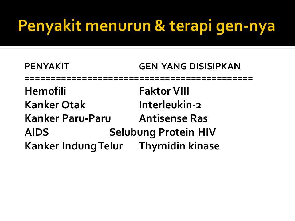 Penyakit menurun & terapi gen-nya