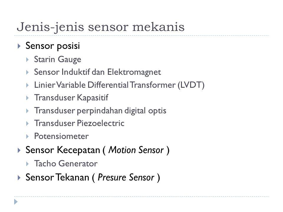 Jenis-jenis sensor mekanis