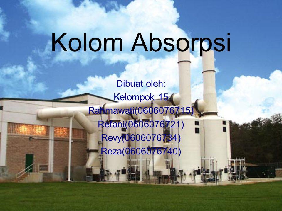 Kolom Absorpsi Dibuat oleh: Kelompok 15 Rahmawati(0606076715)