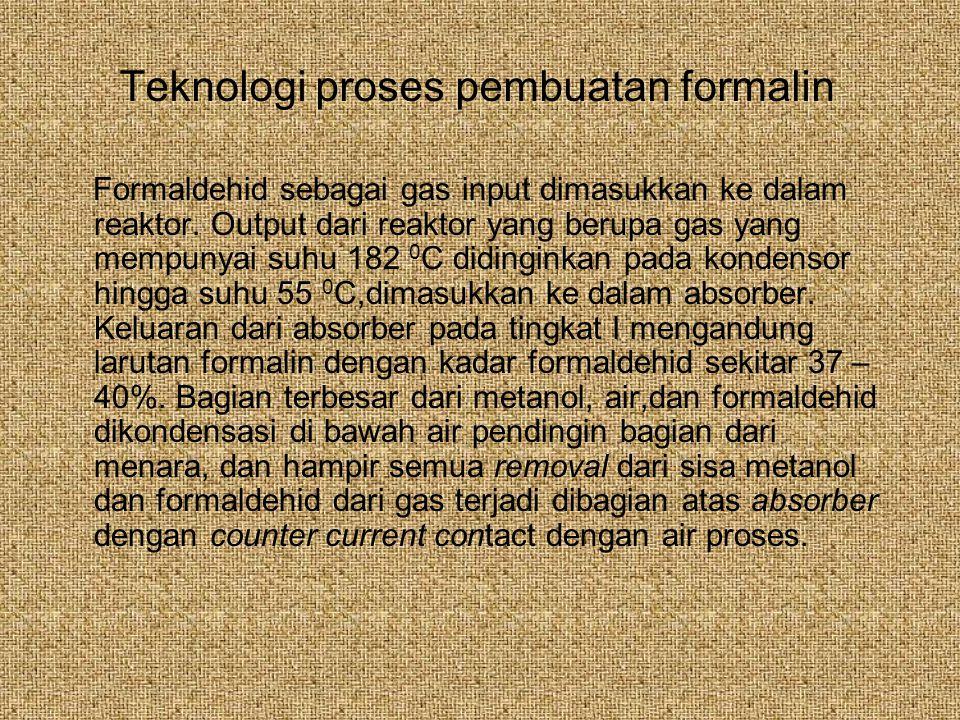 Teknologi proses pembuatan formalin
