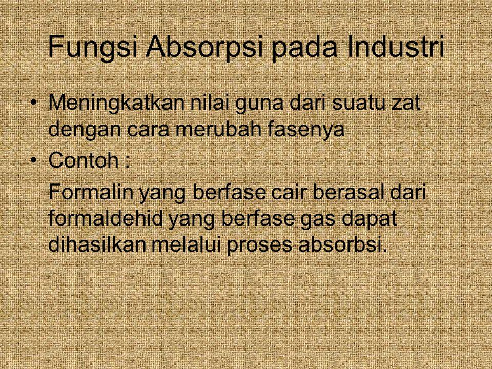 Fungsi Absorpsi pada Industri