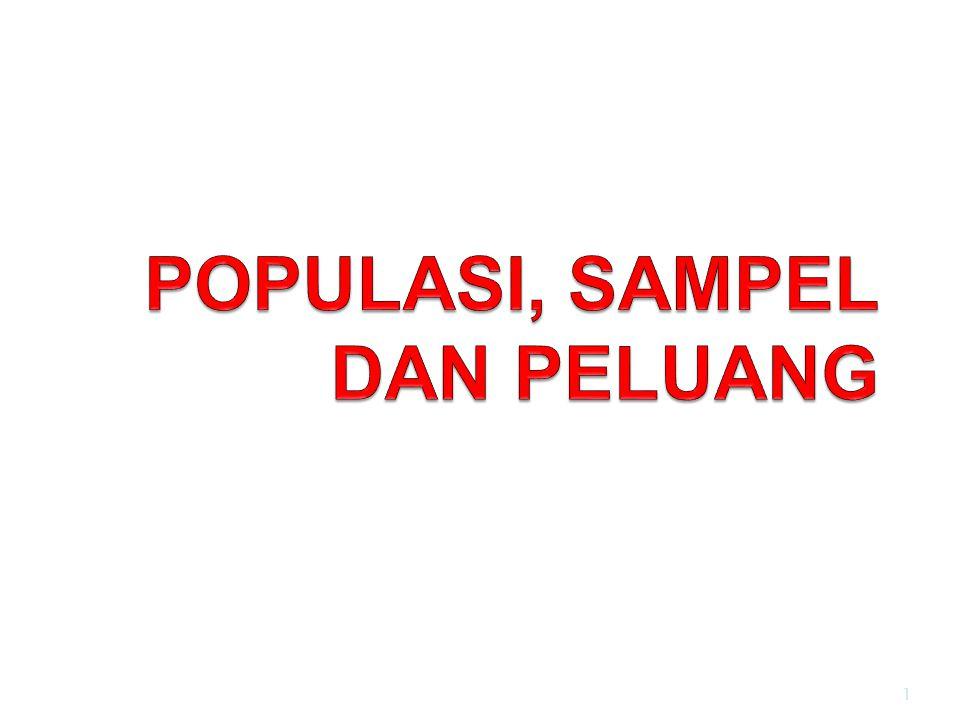 POPULASI, SAMPEL DAN PELUANG
