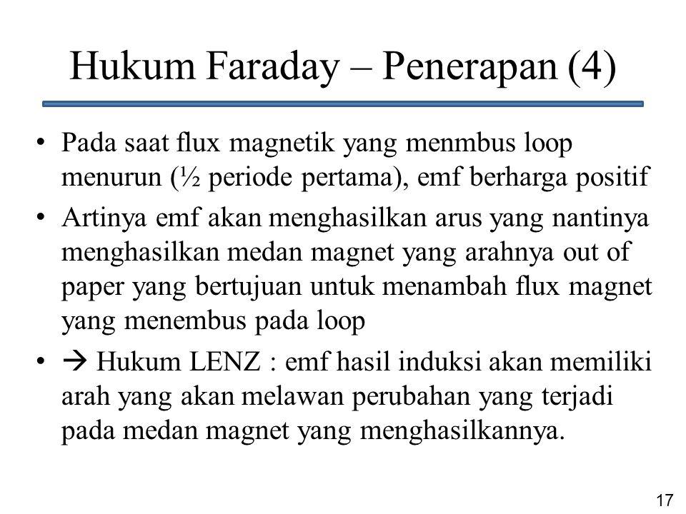 Hukum Faraday – Penerapan (4)