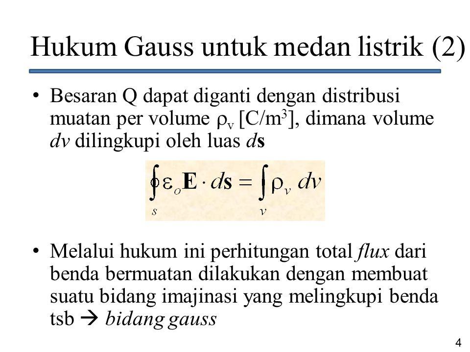 Hukum Gauss untuk medan listrik (2)