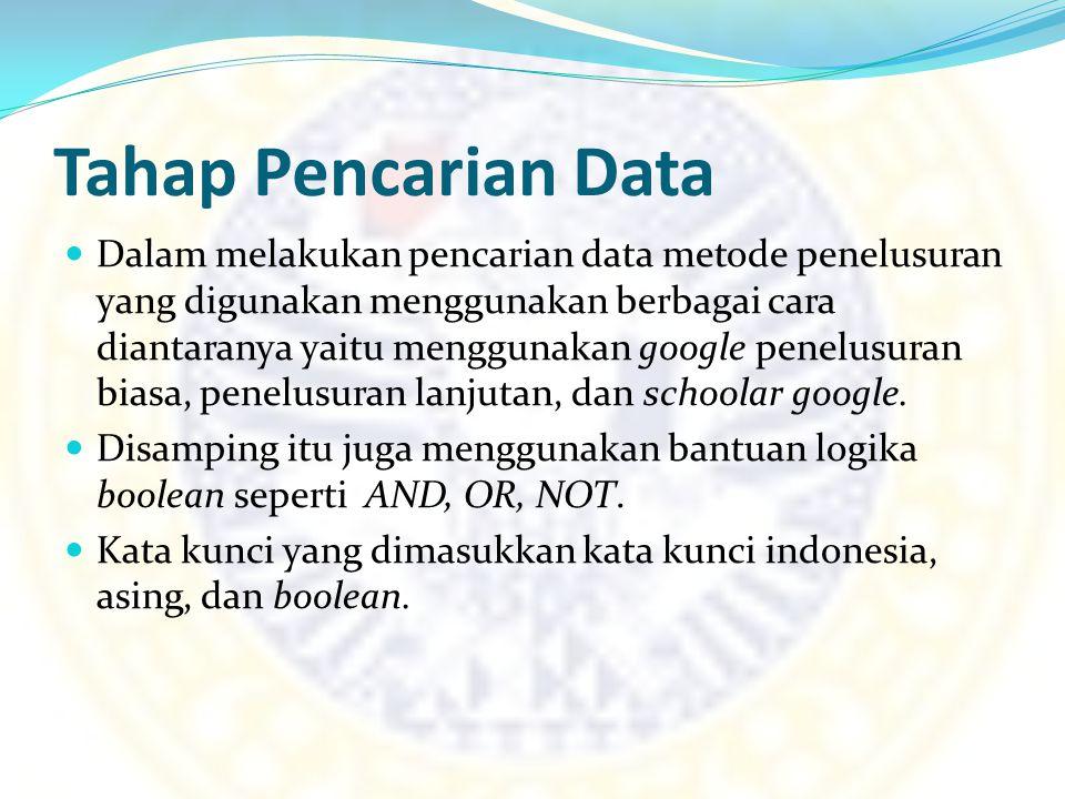 Tahap Pencarian Data