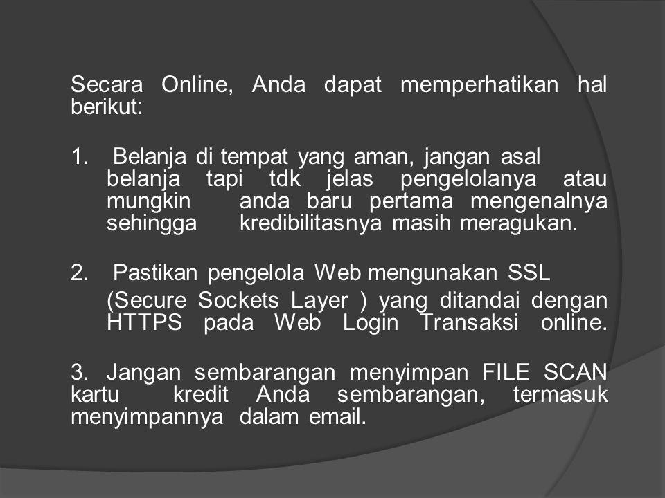 2. Pastikan pengelola Web mengunakan SSL