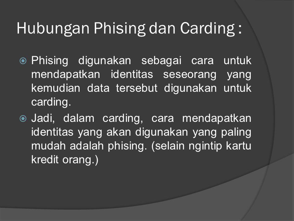 Hubungan Phising dan Carding :