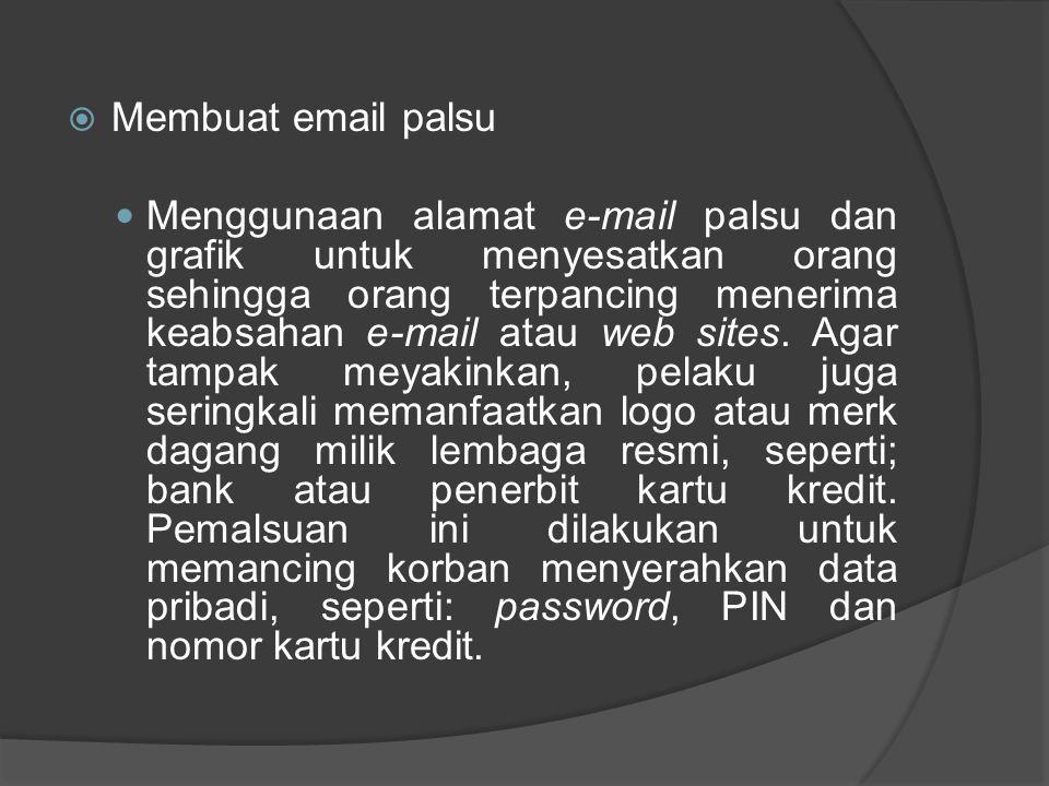 Membuat email palsu