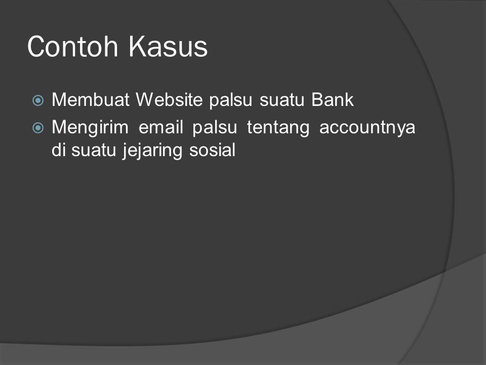 Contoh Kasus Membuat Website palsu suatu Bank
