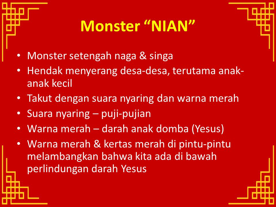 Monster NIAN Monster setengah naga & singa