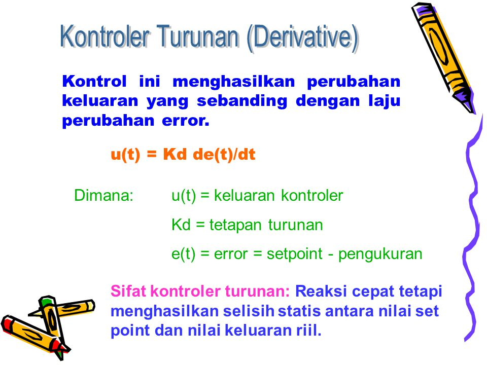 Kontroler Turunan (Derivative)
