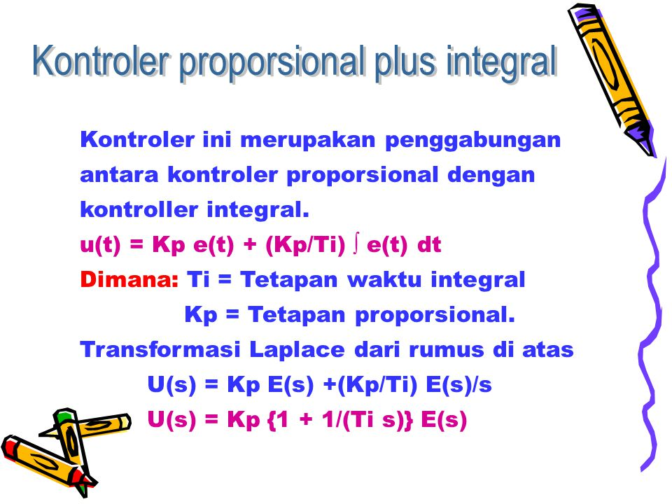 Kontroler proporsional plus integral