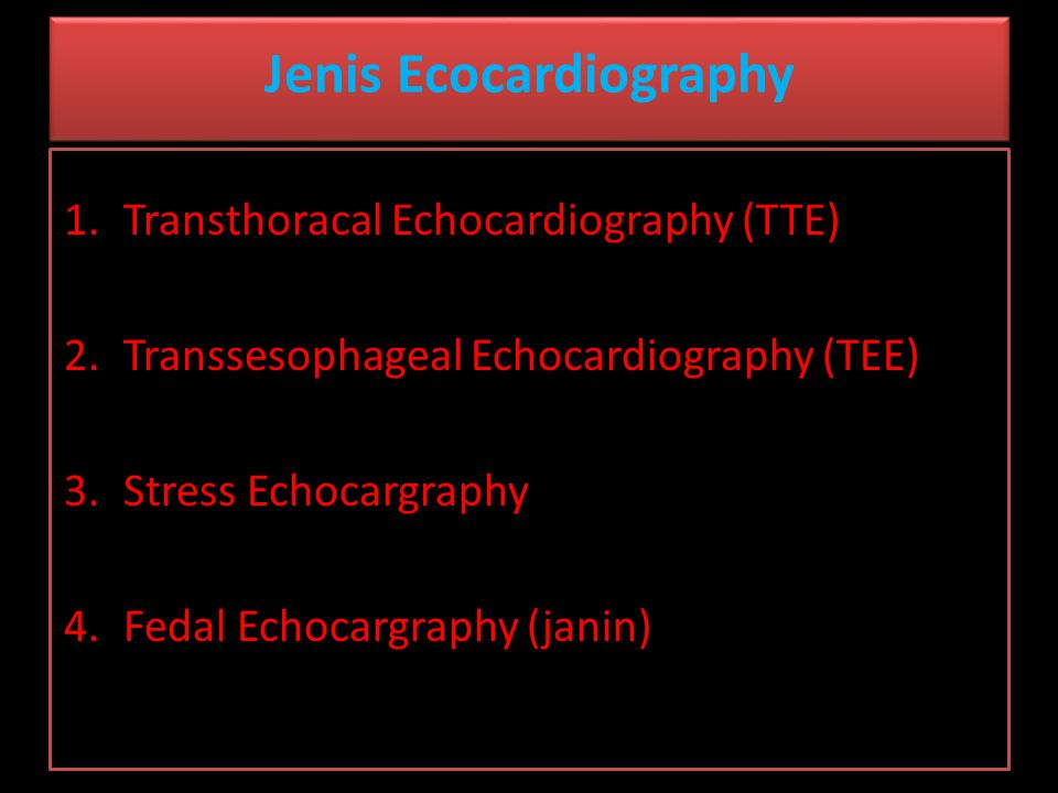 Jenis Ecocardiography
