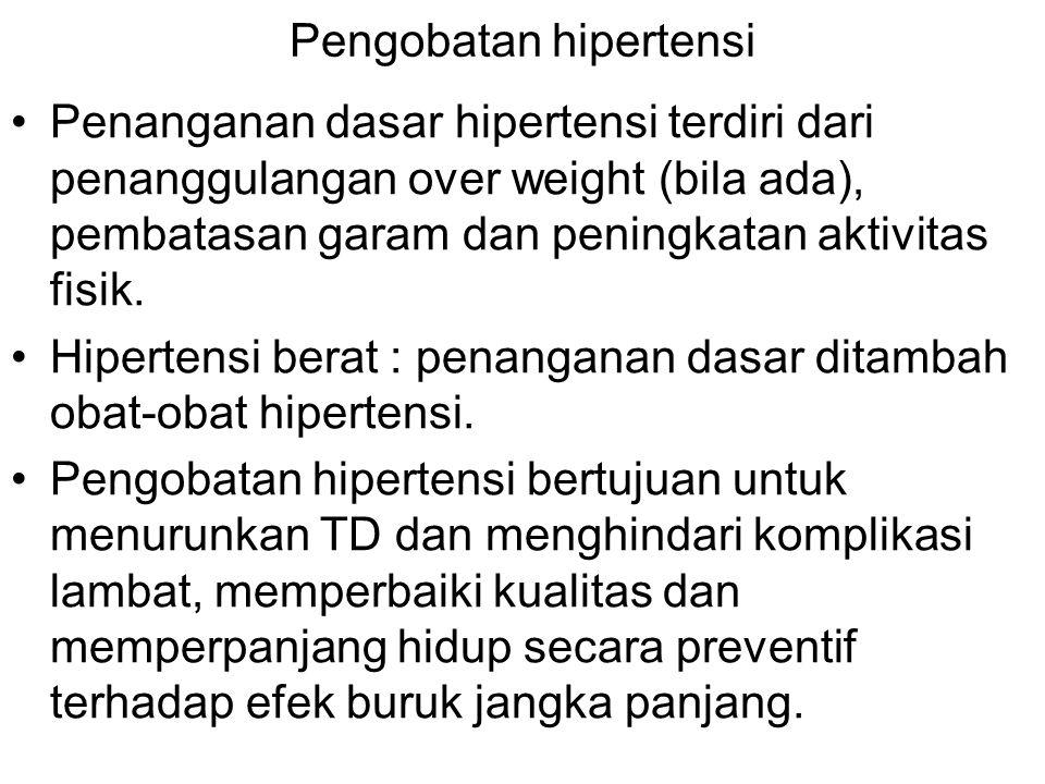 Pengobatan hipertensi
