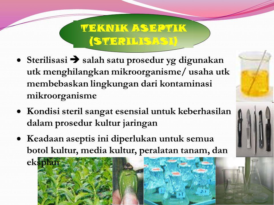TEKNIK ASEPTIK (STERILISASI)