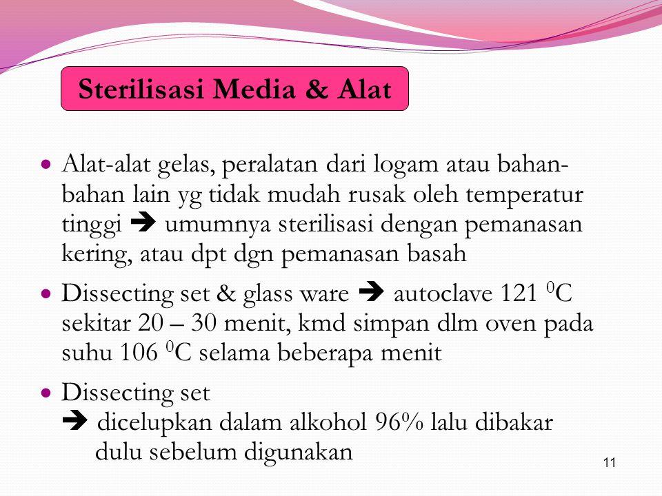 Sterilisasi Media & Alat