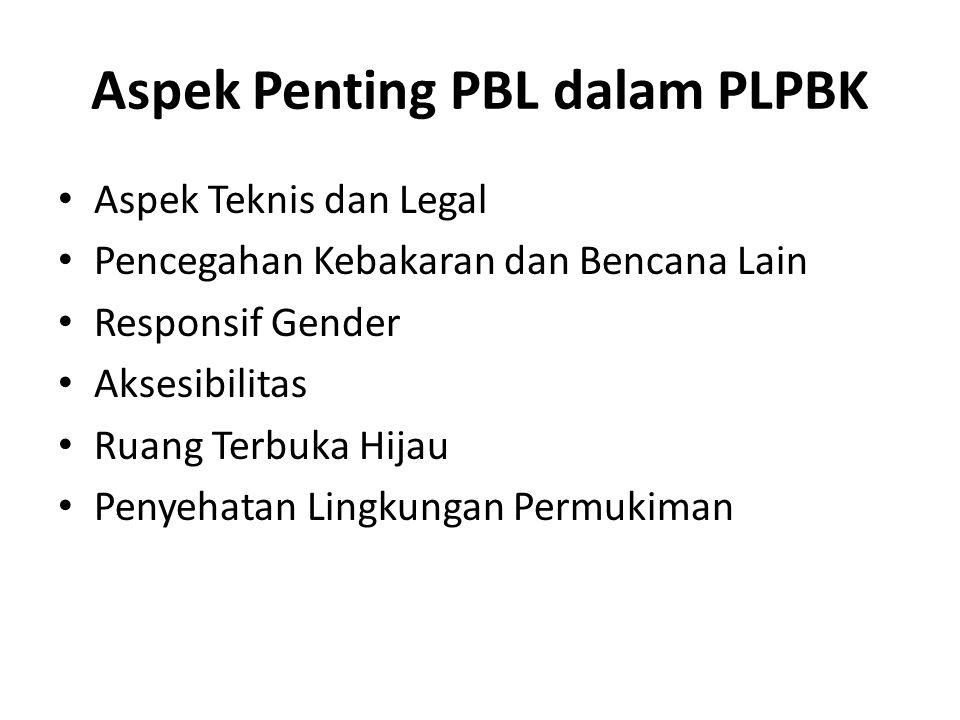 Aspek Penting PBL dalam PLPBK
