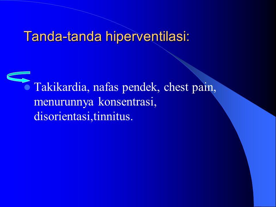 Tanda-tanda hiperventilasi: