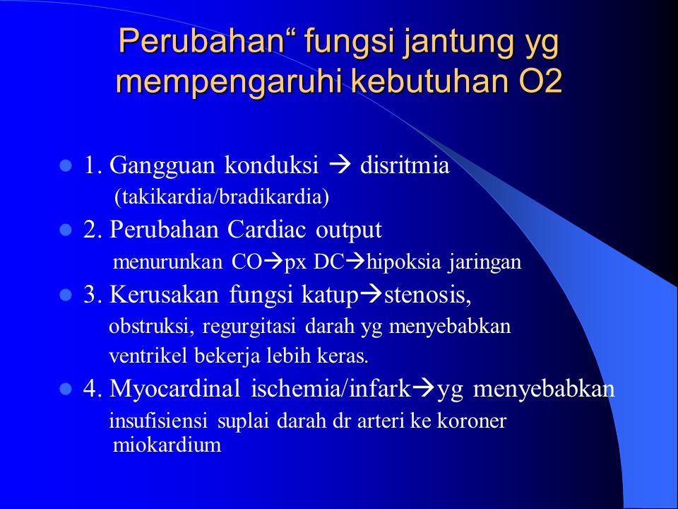 Perubahan fungsi jantung yg mempengaruhi kebutuhan O2