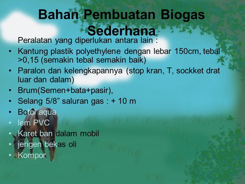Bahan Pembuatan Biogas Sederhana