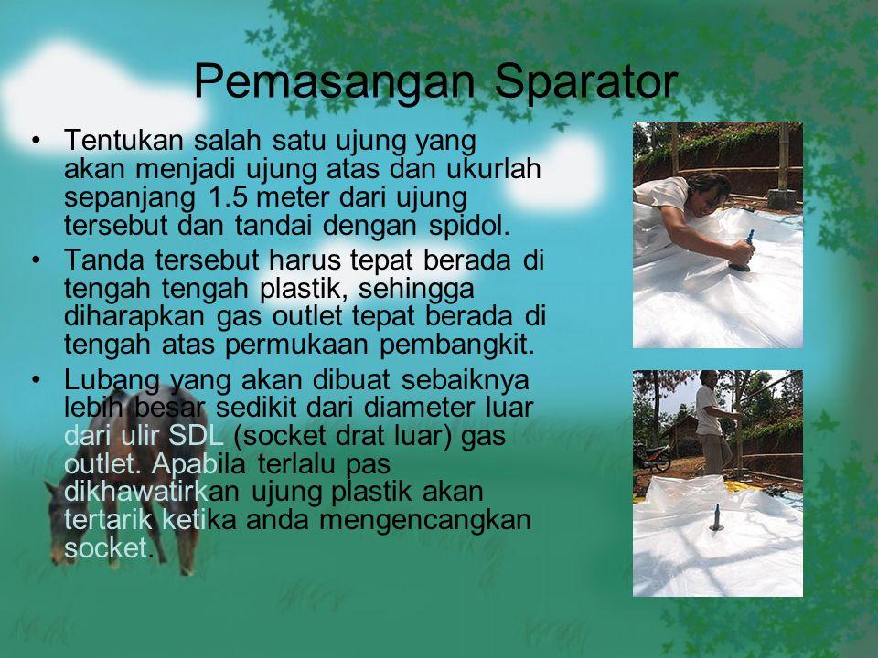 Pemasangan Sparator