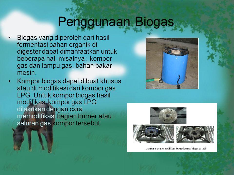 Penggunaan Biogas