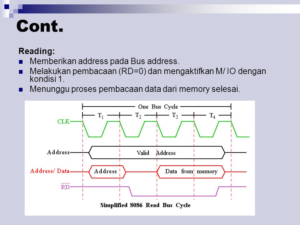 Cont. Reading: Memberikan address pada Bus address.