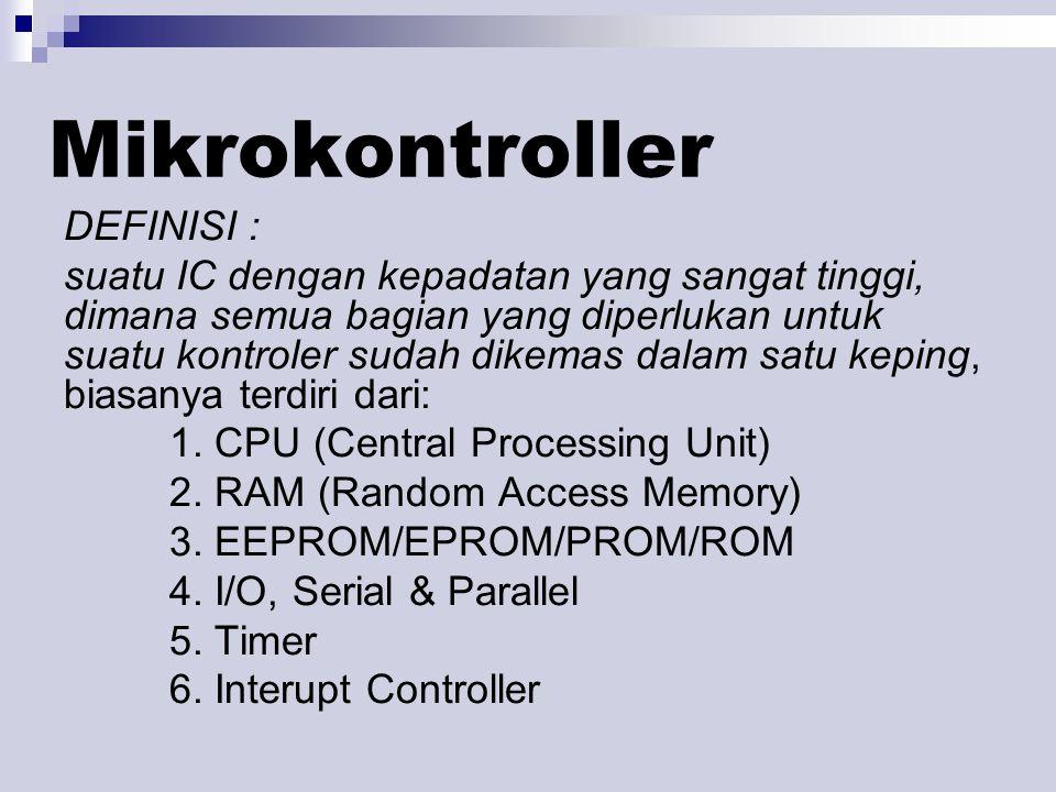 Mikrokontroller DEFINISI :