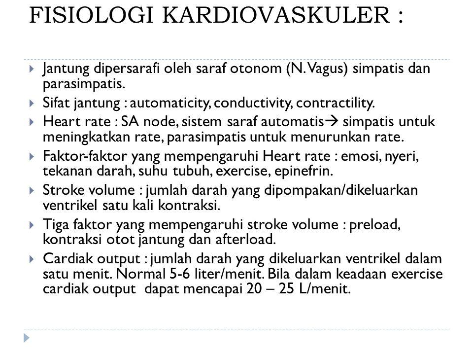 FISIOLOGI KARDIOVASKULER :