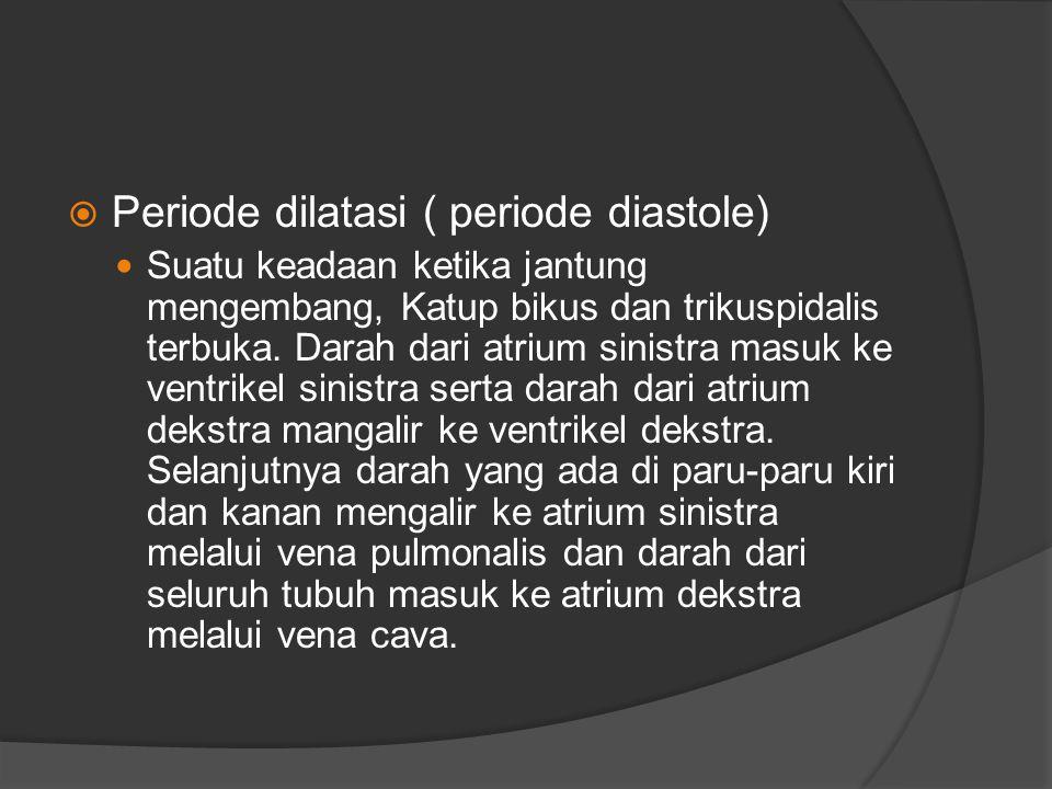 Periode dilatasi ( periode diastole)