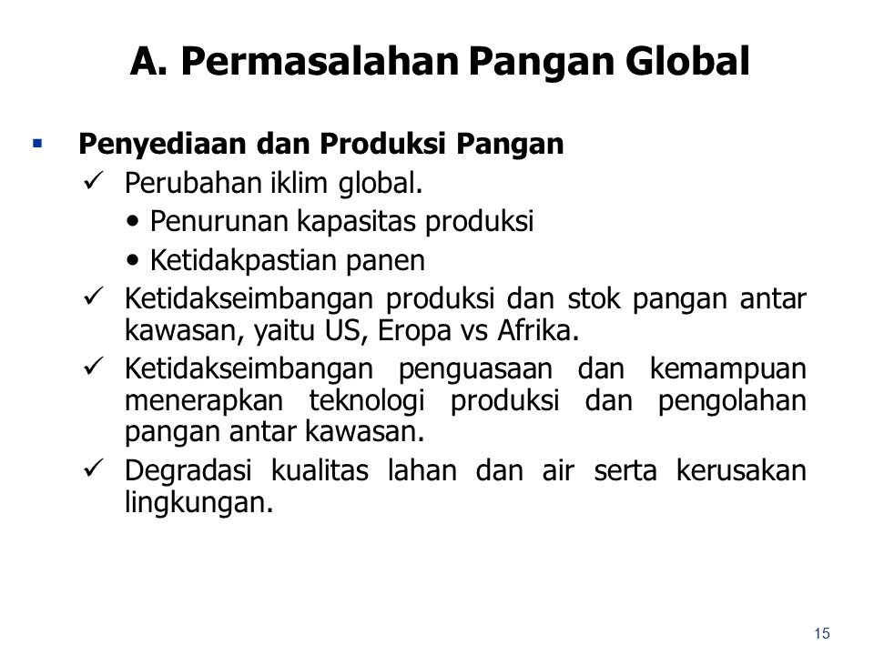 A. Permasalahan Pangan Global