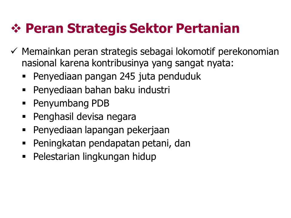 Peran Strategis Sektor Pertanian