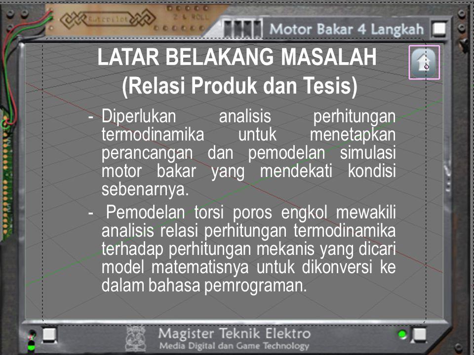 LATAR BELAKANG MASALAH (Relasi Produk dan Tesis)