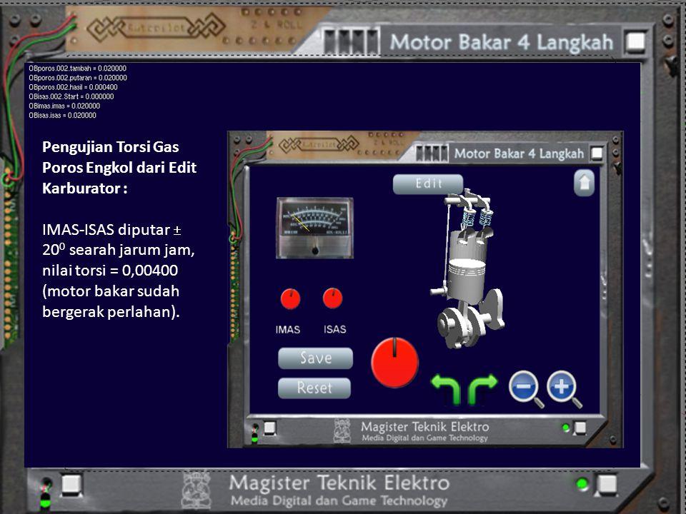 Pengujian Torsi Gas Poros Engkol dari Edit Karburator :