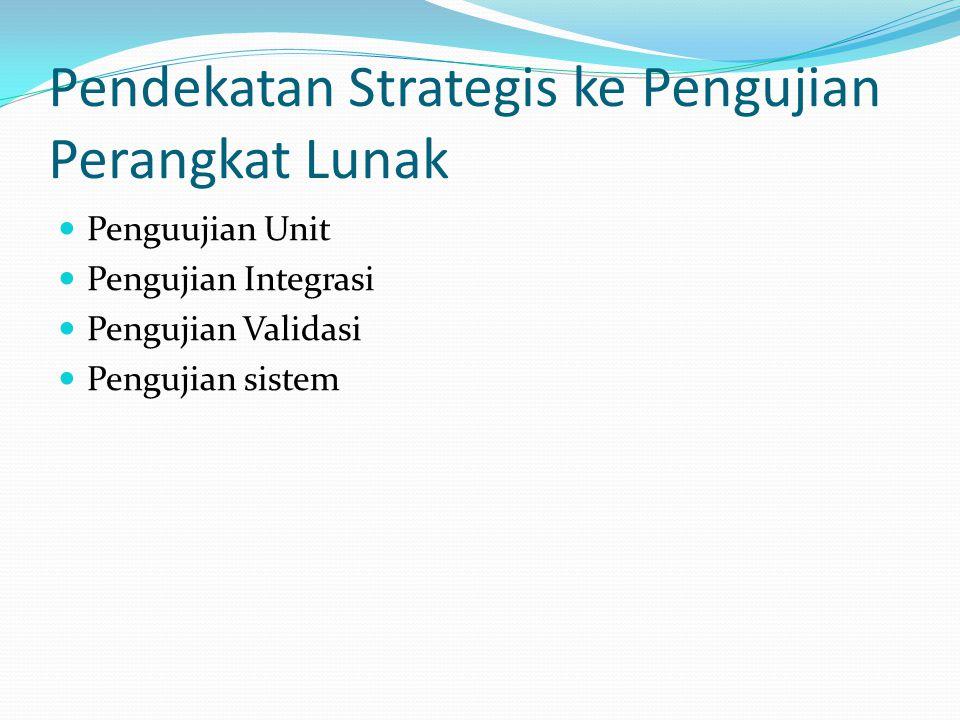 Pendekatan Strategis ke Pengujian Perangkat Lunak