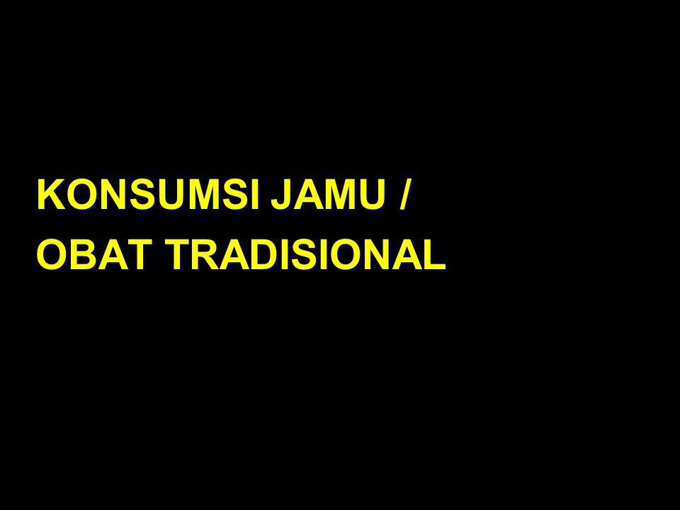 KONSUMSI JAMU / OBAT TRADISIONAL