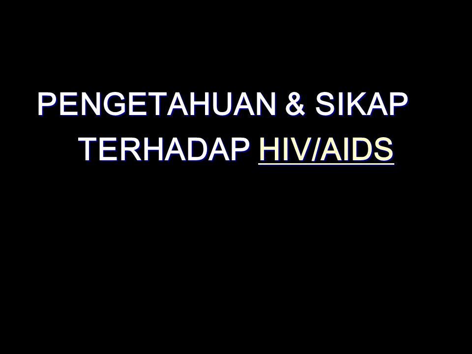 PENGETAHUAN & SIKAP TERHADAP HIV/AIDS