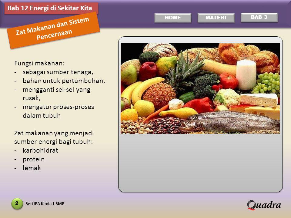 Zat Makanan dan Sistem Pencernaan