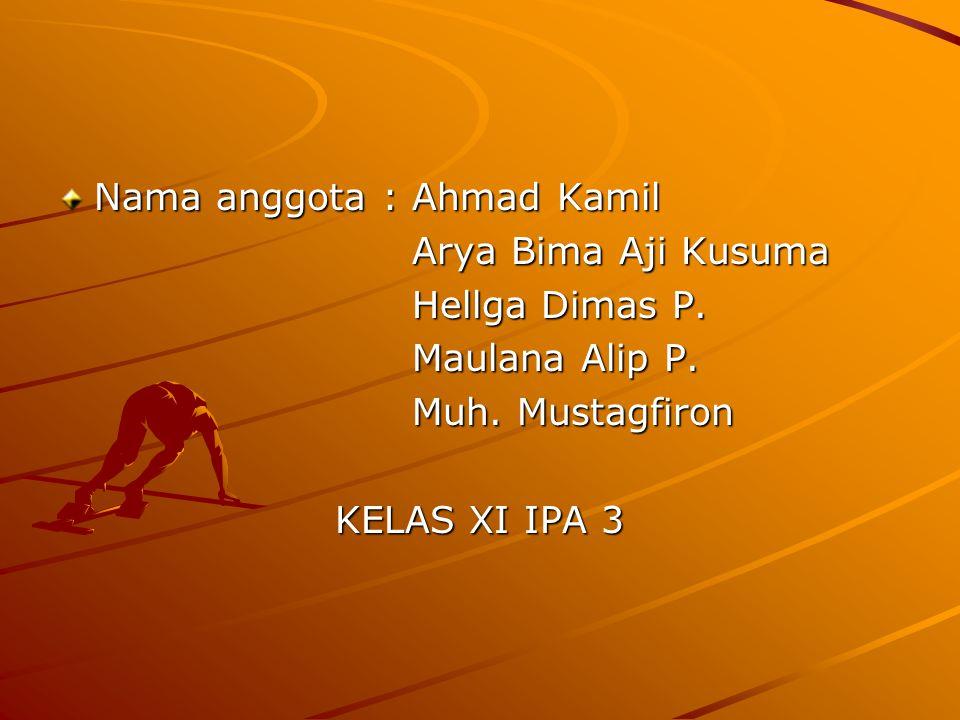 Nama anggota : Ahmad Kamil