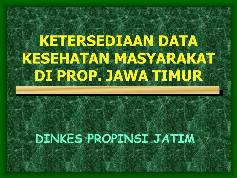 KETERSEDIAAN DATA KESEHATAN MASYARAKAT DI PROP. JAWA TIMUR