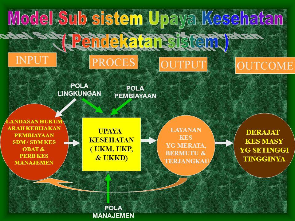 Model Sub sistem Upaya Kesehatan