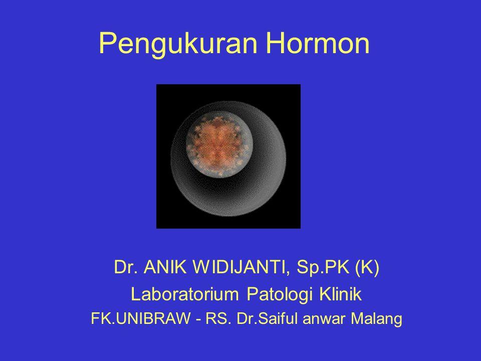 Pengukuran Hormon Dr. ANIK WIDIJANTI, Sp.PK (K)