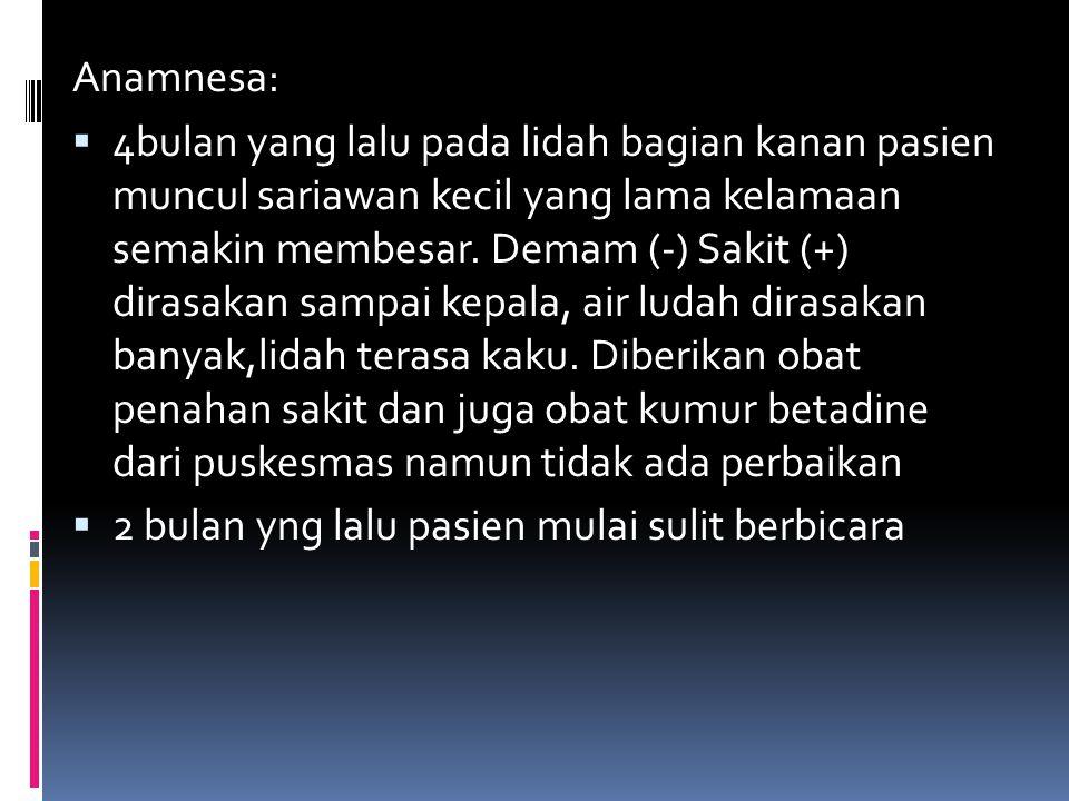 Anamnesa: